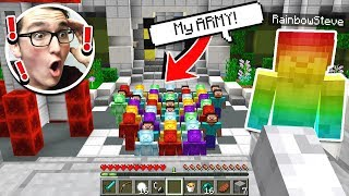 RAINBOW STEVE SHOWED ME THE STEVE ARMY IN MINECRAFT!