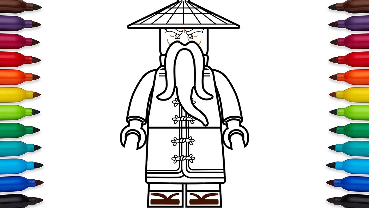 How To Draw Lego Ninjago Master Wu From The Movie Kids Fun Factory Entertainment