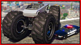 GTA 5 Roleplay - I BUILT CUSTOM TESLA CYBERTRUCK & COPS HATED IT | RedlineRP