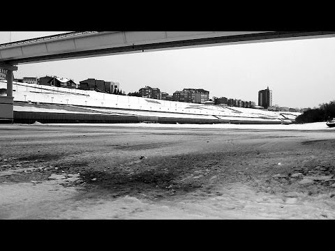 Frozen Siberian river: Tura