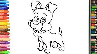 Как нарисовать милая собака | Раскраски детей HD | Рисование и окраска | Рисование для детей