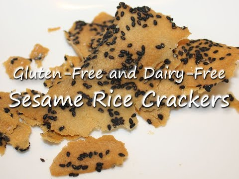 Gluten-Free and Dairy-Free Sesame Rice Crackers Recipe