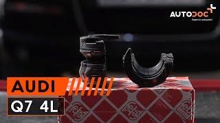 Cómo cambiar Bombin de freno AUDI Q7 (4L) - vídeo gratis en línea