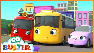 New Kid in School Making Friends | Go Buster | Baby Cartoons | Kids Videos | ABCs and 123s