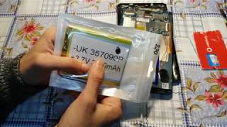 bravis NB753 замена аккумулятора