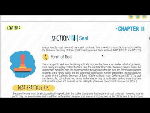 Notary Public E Course Chapter 2 Part 1 (Vid 2 of 4 )