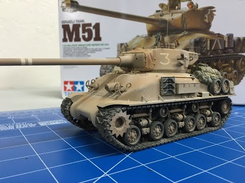 Building the Tamiya 1/35  Israeli M51 Sherman from start to