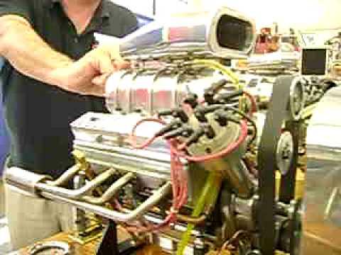 Worlds Smallest Miniature Blown V8 Blower Supercharger Running Youtube