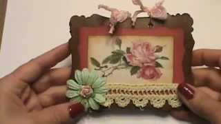 Shabby chic note pad with pink roses vintage collage sheet image