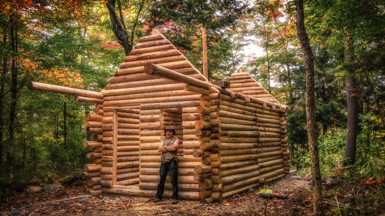 Log cabin build you can do this too youtube for How to build a cottage home