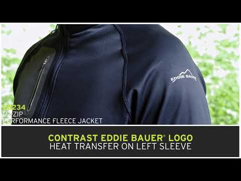Eddie Bauer EB234 & EB235 1/2 Zip Performance Fleece - Buy At ApparelnBags.com