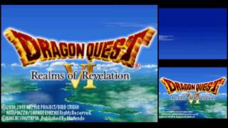 Dragon Quest VI: Realms of Revelation [DS] (Commentary) #001, Title Screens