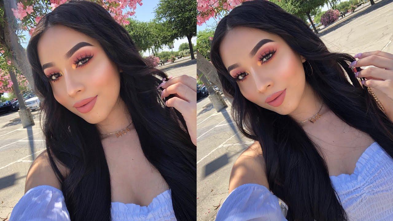 Andreea Reyes easy peachy makeup 🍑 | jocy reyes