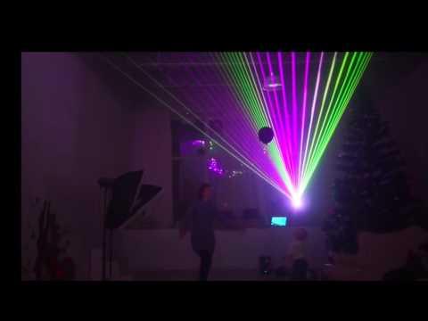 Лазерный проектор в фотостудии Фабрика
