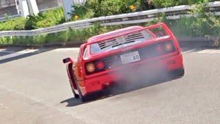 【大黒PA】スーパーカー加速サウンド/Supercars sound in Japan. F40, AventadorSV, 488, 355, and more‼️