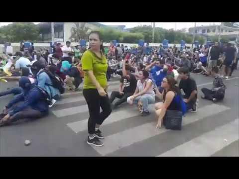 Estudiantes de la UNI protestan por reformas al INSS