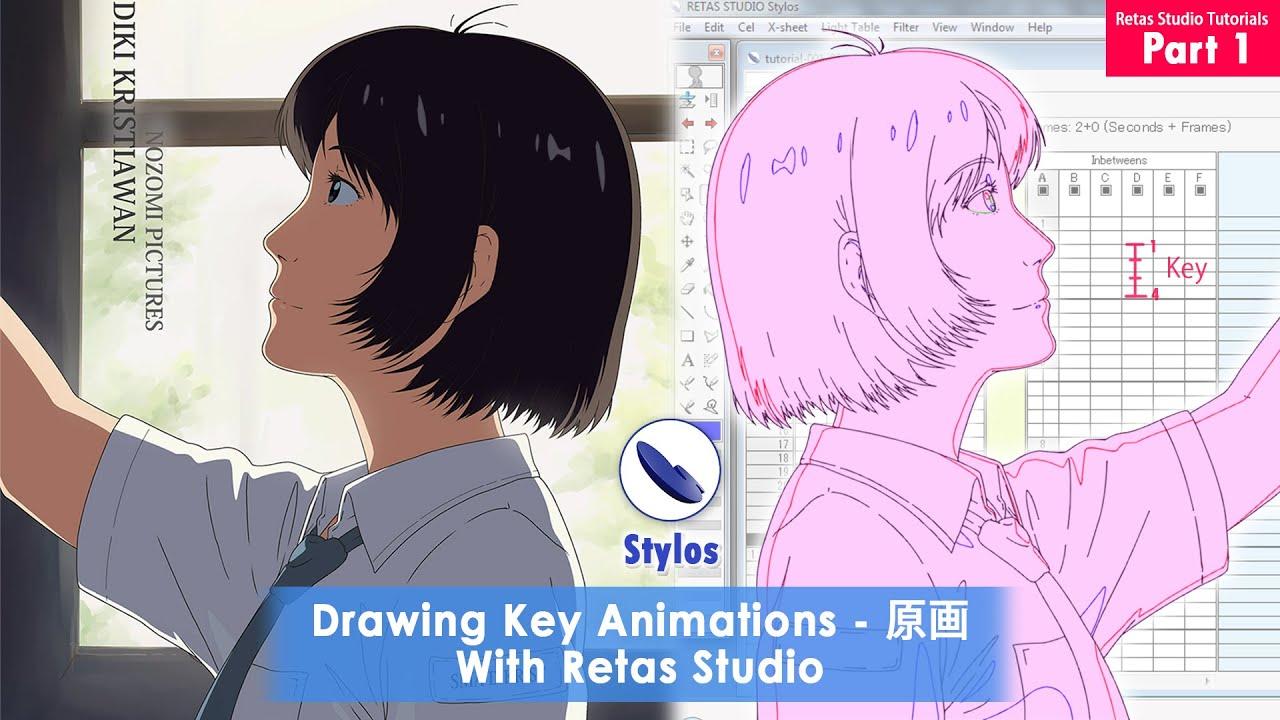Download Drawing Key Animations 原画 using RETAS Stylos - RETAS STUDIO Tutorials Part 1