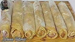 poori chicken roll/poori chicken roll restaurant style with zareen fatima
