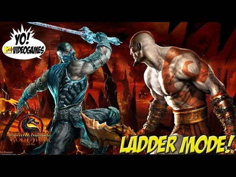 Mortal Kombat 9! Kratos Ladder Matches! - YoVideogames