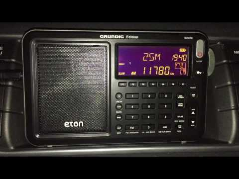 Eton Satellit: Radio Nacional Brasilia 11780 kHz, wonderful signal and audio, with ID
