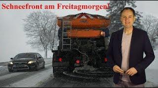 Schneefront am Freitagmorgen! Achtung im Berufsverkehr! (Mod.: Dominik Jung)