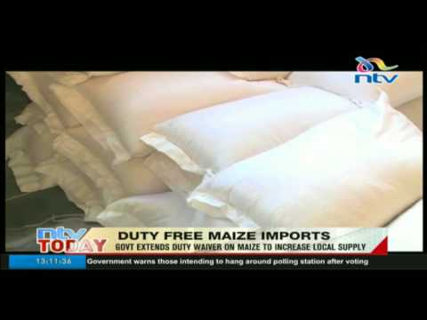 Treasury extends duty waiver on imported white and yellow maize