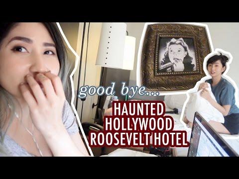 Leaving the HAUNTED HOLLYWOOD ROOSEVELT HOTEL 👻 - Alodia Vlog