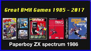 The best BMX games 1985 -2017 compilation
