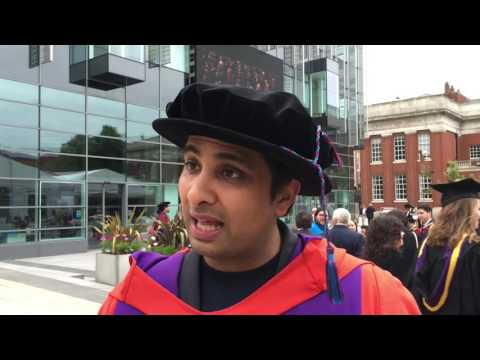 Imran Hakim reacts to Outstanding Alumni Award at The University of Manchester