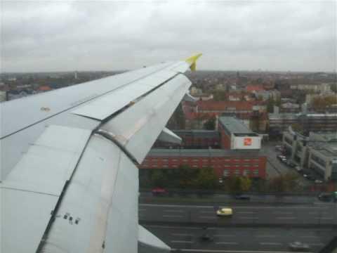Germanwings A-319 Landing Berlin-Tempelhof 30.10.2008