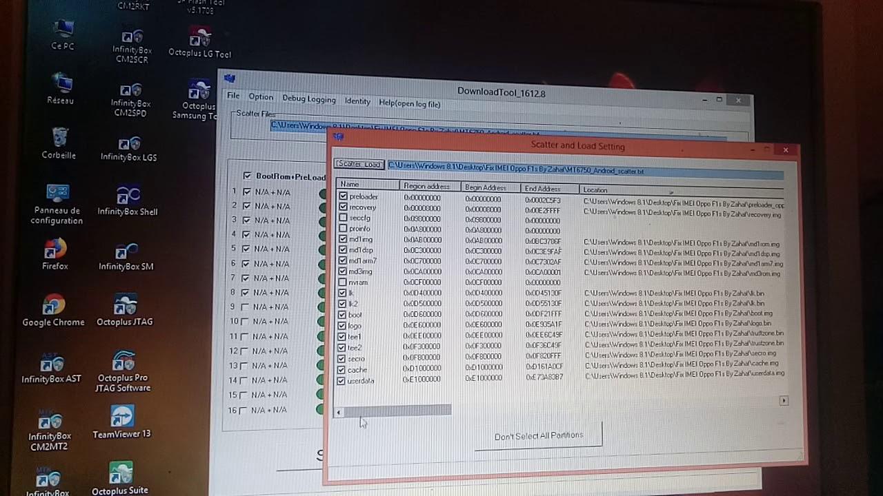 Fix IMEI OPPO F1s MT6755 MT6750 NVRAM100%