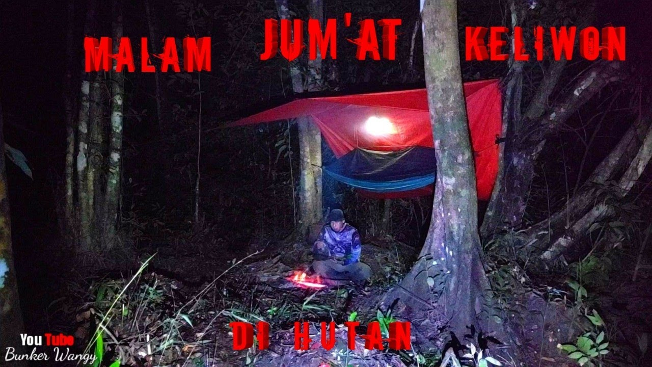 SOLO BUSHCRAFT INDONESIA OVERNIGHT IN THE SWAMP FOREST-SOLO CAMPING FISHING OVERNIGHT AND COOKING