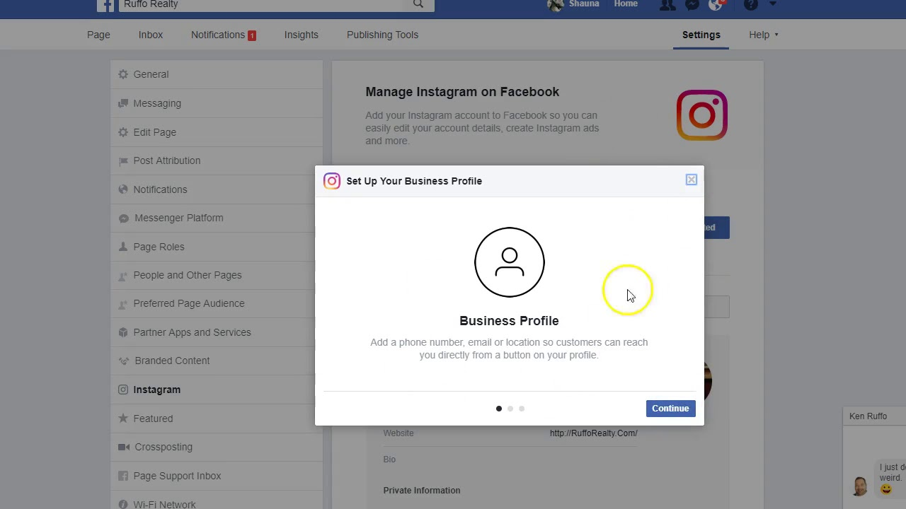 How to create instagram account from facebook business page