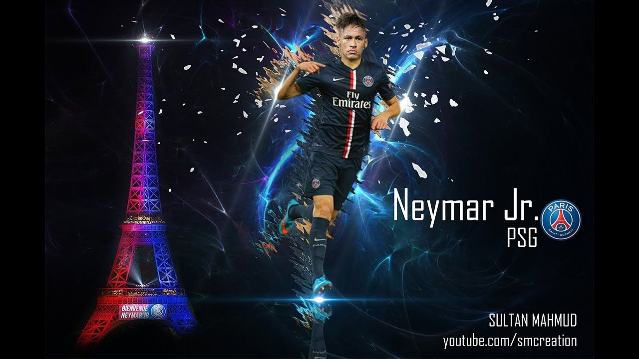 neymar jr. official psg presentation 2017 | photo manipulation