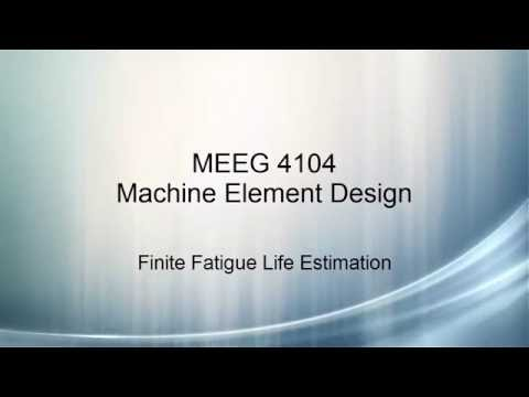 Machine Element Design V13 - Fluctuating Stresses