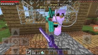 Играем с сестрой на сервере bunny craft