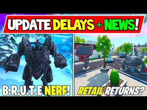 *NEW* Fortnite V10.10 Update: DELAYED, BRUTE / MECH NERF + MAP CHANGES! Retail Row Returning!?