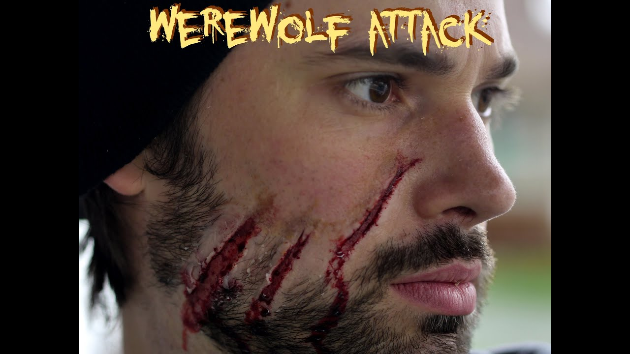 Werewolf Attack - Halloween Makeup Tutorial - YouTube