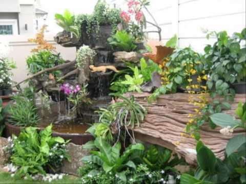 ภาพการจัดสวนหย่อมหน้าบ้าน ไม้ดอกจัดสวนหย่อม
