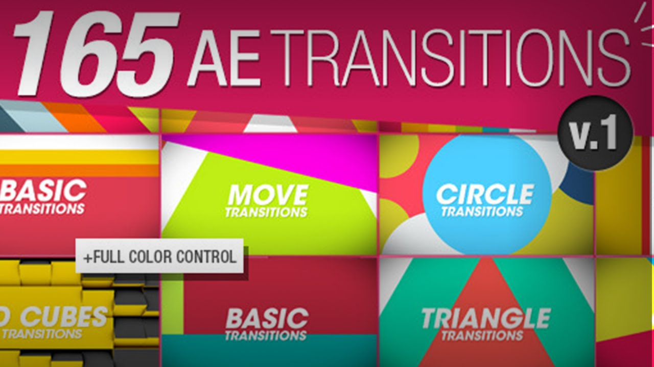 Download 165 Transitions Pack v1 - 100% Free Template After Effects ...