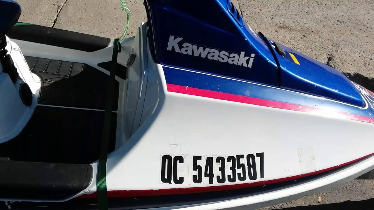 1989 Kawasaki Ts 650 Jet Ski With 1994 Load Rite Bandit Trailer