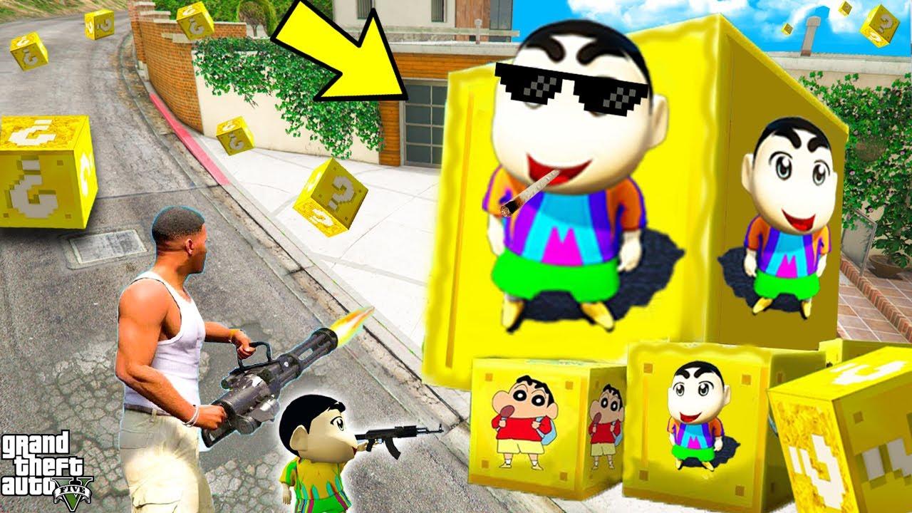 GTA 5 : FRANKLIN OPENING SHINCHAN LUCKY BOXES in GTA 5! (GTA 5 mods)
