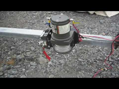 Harbor Freight Winch Mount Modification For Boat Utility trailer Conversion