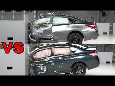 Top Cars: [CRASH TEST] 2016 Nissan Altima Vs Nissan Sentra