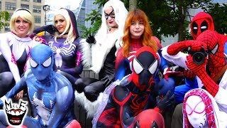 Spider-Man: SPIDER-VERSE Takes Over NYC Epic Flash Mob Prank!!