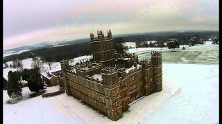Highclere Castle the real Downton Abbey on a snowy day