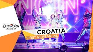 Albina - Tick-Tock - First Rehearsal - Croatia 🇭🇷 - Eurovision 2021