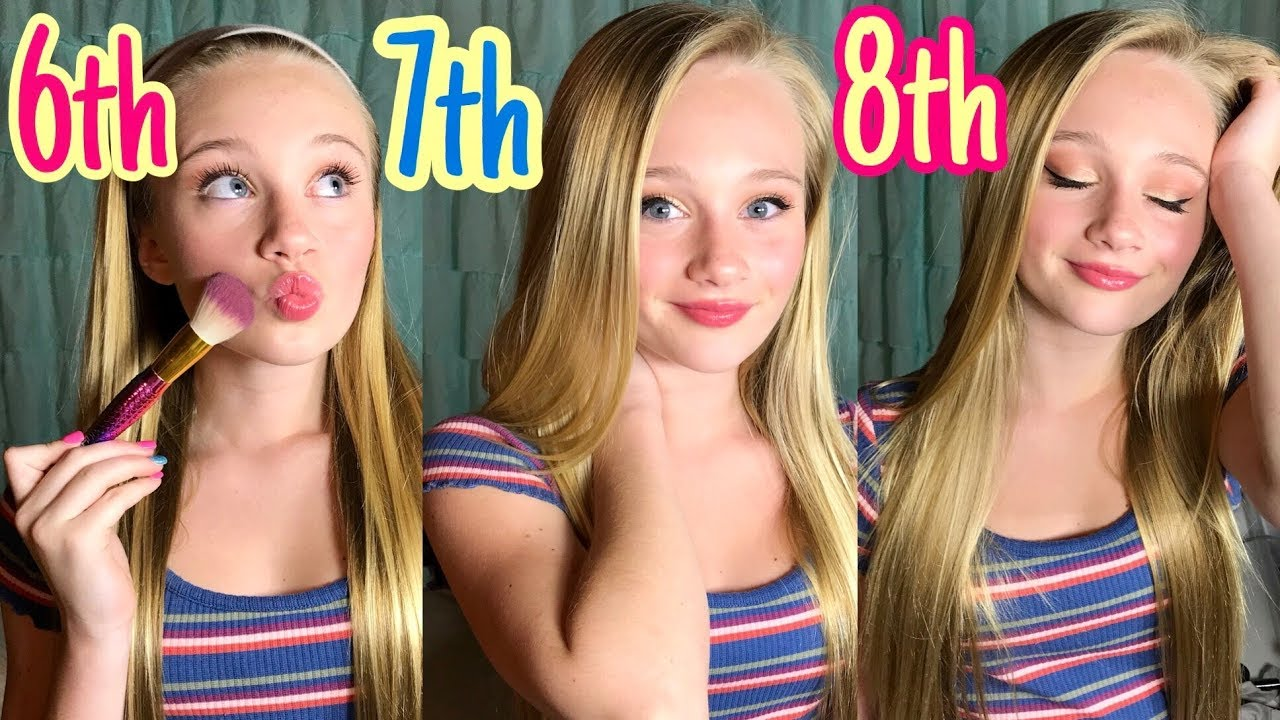 Middle School Makeup Routine 6th 7th 8th Grade Back To School