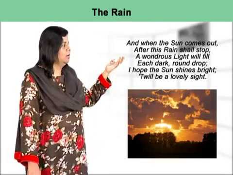 The Rain by W H Davies Complete explanation of the poem | First Year English