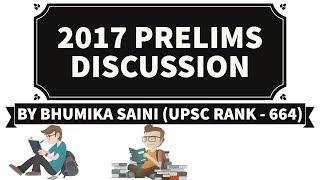 [ENGLISH] UPSC Prelims 2017 Analysis Part 1